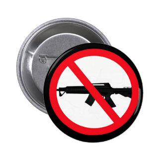 Armas de asalto de la prohibición pin redondo 5 cm