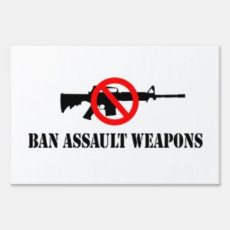 Armas de asalto de la prohibición señales
