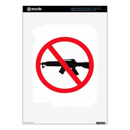 Armas de asalto de la prohibición iPad 3 pegatinas skins