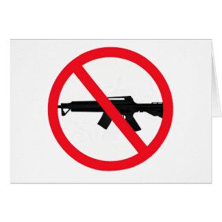 Armas de asalto de la prohibición tarjeta de felicitación