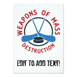 """Armas de destrucción masiva del hockey invitación 4.5"""" x 6.25"""""""