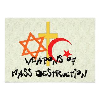 """Armas de destrucción masiva invitación 5"""" x 7"""""""