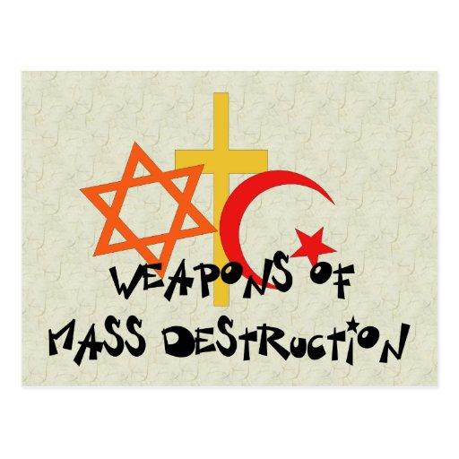 Armas de destrucción masiva tarjetas postales
