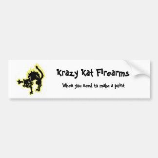 Armas de fuego de Krazy Kat, cuando usted nee… Etiqueta De Parachoque