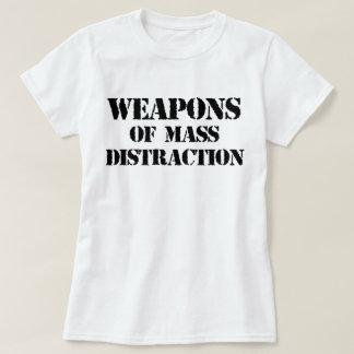 Armas de la camiseta total de la distracción poleras