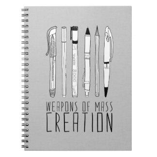 Armas de la creación total cuaderno