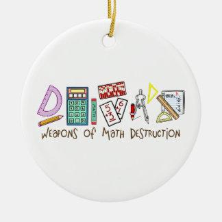 Armas de la destrucción de la matemáticas adorno navideño redondo de cerámica