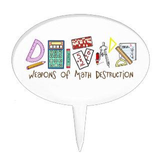 Armas de la destrucción de la matemáticas decoraciones para tartas