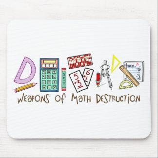 Armas de la destrucción de la matemáticas alfombrillas de ratón