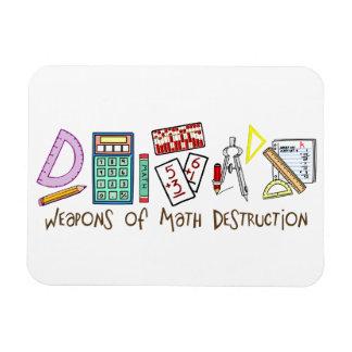 Armas de la destrucción de la matemáticas imán rectangular