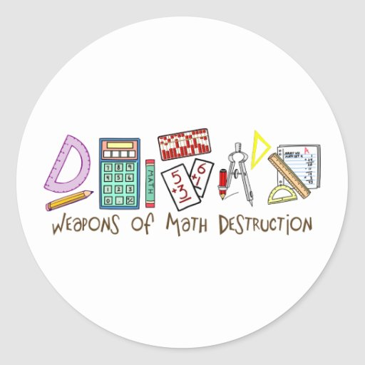 Armas de la destrucción de la matemáticas pegatina redonda