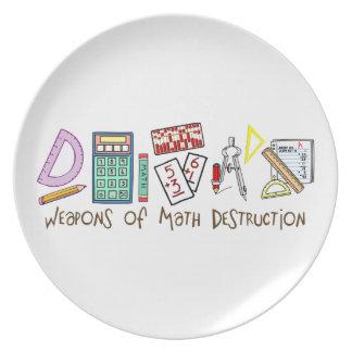 Armas de la destrucción de la matemáticas platos de comidas