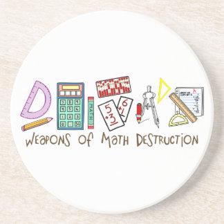 Armas de la destrucción de la matemáticas posavasos para bebidas