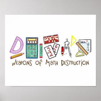 Armas de la destrucción de la matemáticas póster