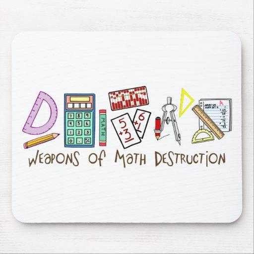 Armas de la destrucción de la matemáticas alfombrilla de ratón