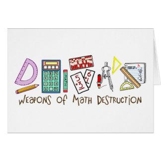 Armas de la destrucción de la matemáticas tarjeta de felicitación
