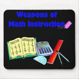 Armas de la instrucción de la matemáticas tapetes de raton