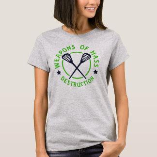 Armas de LaCrosse de la camiseta de las señoras de