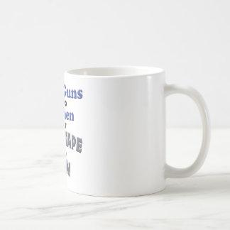Armas de pegamento taza de café