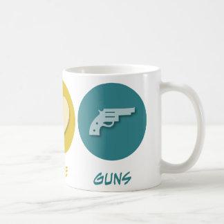 Armas del amor de la paz taza de café