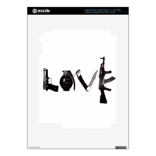 Armas del amor iPad 3 skin