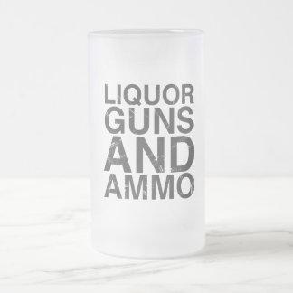 Armas del licor y vidrio esmerilado de la munición taza cristal mate