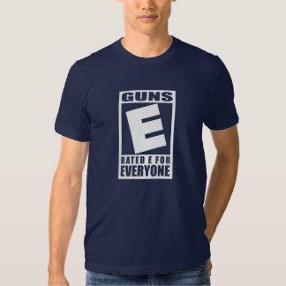 Armas E clasificada para cada uno Remera