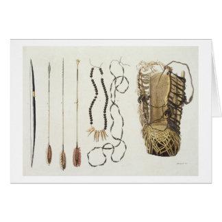 Armas, herramientas y joyería de Puri y de Botocud Tarjeta De Felicitación