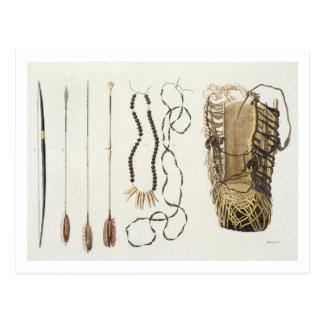 Armas, herramientas y joyería de Puri y de Tarjeta Postal