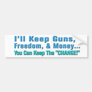Armas, libertad, y pegatina para el parachoques an pegatina para auto