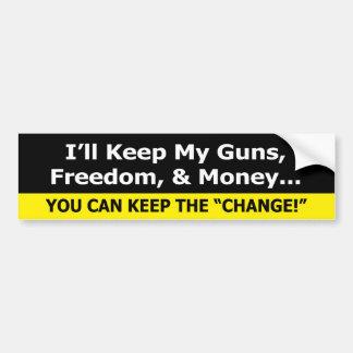 Armas, libertad, y pegatina para el parachoques Si Pegatina Para Auto