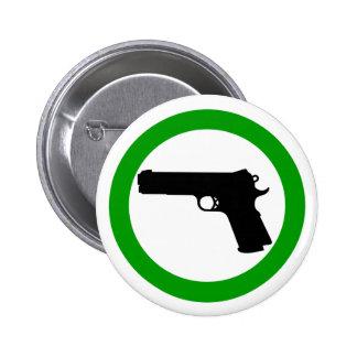 Armas no prohibidos el botón de la zona pin redondo de 2 pulgadas