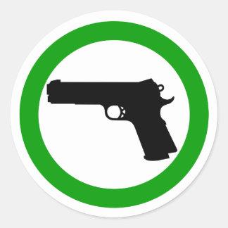 Armas no prohibidos el pegatina de la zona