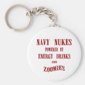 Armas nucleares de la marina de guerra accionadas  llavero redondo tipo pin