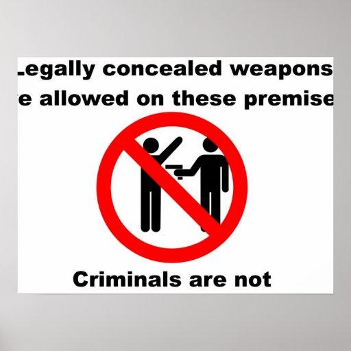 Armas permitidas poster
