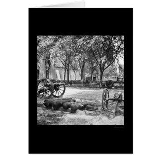 Armas y munición de Blakely en Charleston 1865 Tarjeta De Felicitación