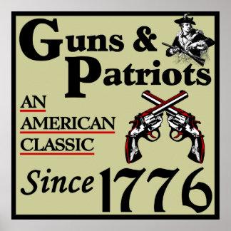 Armas y patriotas póster
