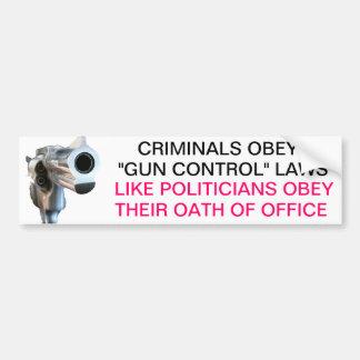 Armas y pegatina para el parachoques de los politi pegatina para auto