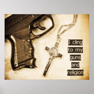 Armas y religión póster