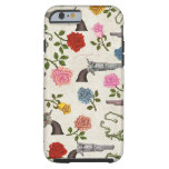 Armas y rosas dulces funda de iPhone 6 tough