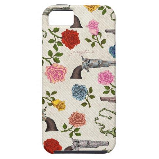 Armas y rosas dulces iPhone 5 carcasa