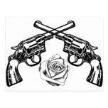 armas y rosas postales