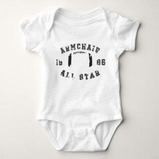 Armchair All Star Football Baby Bodysuit