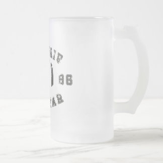Armchair All Star Football Frosted Glass Beer Mug