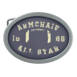 Armchair All Star Football Oval Belt Buckle