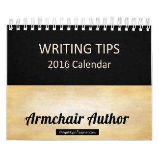 Armchair Author: Writing Tips 2016 Calendar