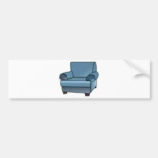 Armchair Bumper Sticker