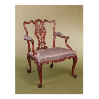 Armchair by Thomas Chippendale, c.1760 Postcard