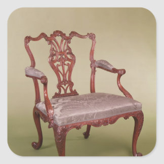 Armchair by Thomas Chippendale, c.1760 Square Sticker