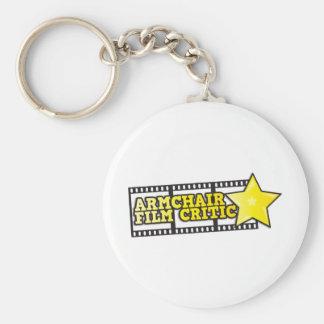 Armchair film critic basic round button keychain